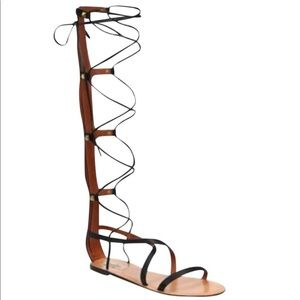 Valentino black gladiator sandals